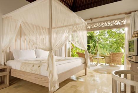 Interior view of a bedroom at Uma Ubud