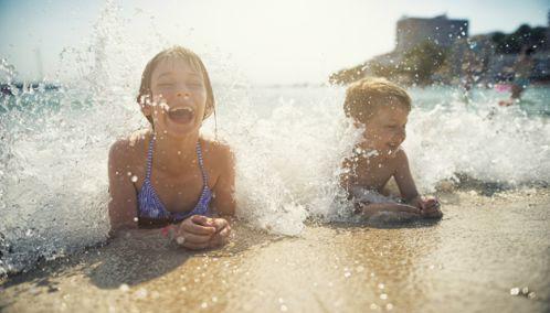 Children on the Beach, Europe