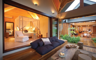 Picture of the bedroom in Madam Zabre Villa, Desroches Island Resort