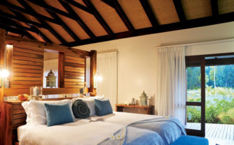 Picture of the bedroom in a beach villa in Desroches Island Resort