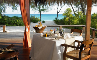 Picture of private dining breakfast at Vamizi Island Lodge