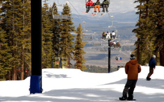 View of a California Ski Slope