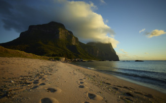 Picture of beach at Lord Howe Island in Australia