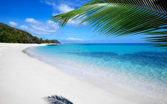Picture of a beautiful beach in Fiji