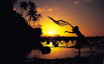 Picture of sunset fishing in Fiji