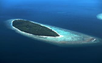 Picture of aerial shot of Soneva Fushi