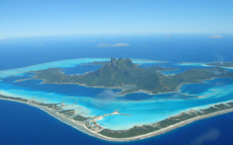 Picture of aerial view of Bora Bora