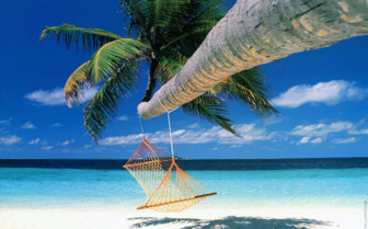 Picture of Beach with hammock at Bora Bora