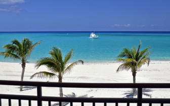 Picture of oceanfront villa balcony on Bimini