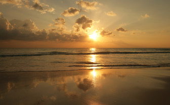 Picture of sunrise on the beach Bimini
