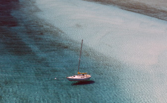 Picture of boat in the water Andros