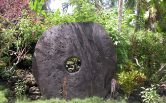 Picture of stone money Yap island