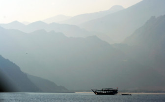 Picture of Boat and landscape Oman