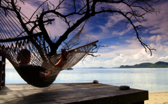 Picture of hammock on beach Sangat
