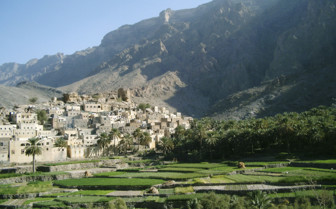 Picture of Oman mountains Wadi town