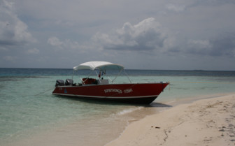 Picture of a fishing boat in Belize