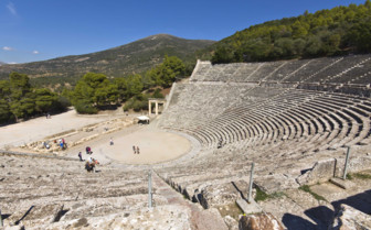 The Ruins of Epidavros Amphitheatre