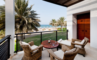 Balcony with views of the beach at the suite