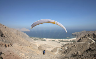 Paragliding at Six Senses Zighy Bay hotel