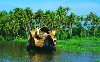 A Houseboat in India's Backwaters