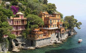 Villas on the hillside of Portofino