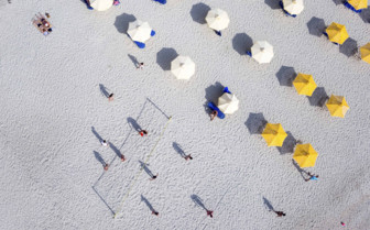 Beach Umbrellas From the Air