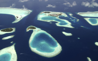 Male Atoll From the Air