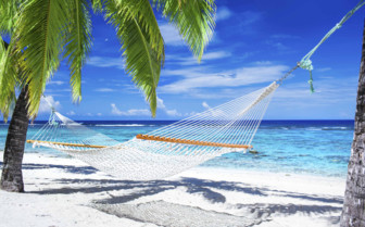 A Hammock On The Beach In The Maldives