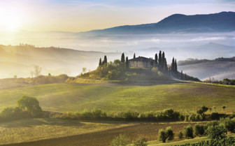 A typical Tuscan morning view