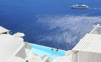 A Secluded Pool in Santorini
