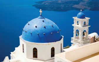 A Domed Santorini Church