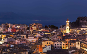 Corfu Old Town at Night