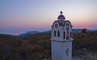 A Hilltop Church at Dusk