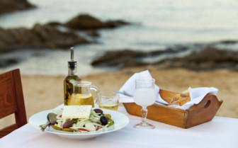 A Fresh Greek Salad and Olive Oil