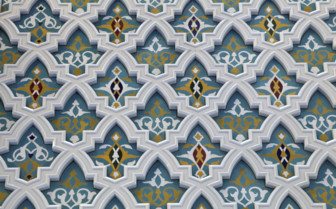 Bright Blue Painted Decorative Detailing