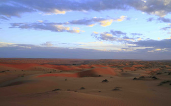 The Wahiba Sands at Dusk