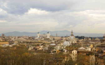Distant view of Rome