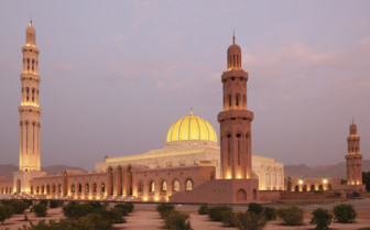 The Grand Mosque at Night in Muscat