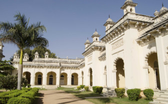 The exterior of Chowmahalla Palace