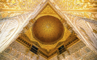 Alcazar Ceiling in Seville