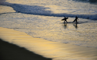 Surfers by Night