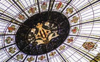The Stained Glass Dome of the Valencia Post Office