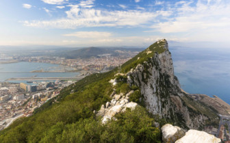 The Rock of Gibraltar, with the Town in the Distance