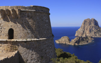Stone Buildings on the Ibiza Coast