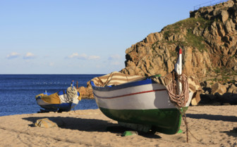 Fishing Boats on the Beach in Valencia