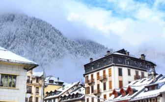 Snowy skyline