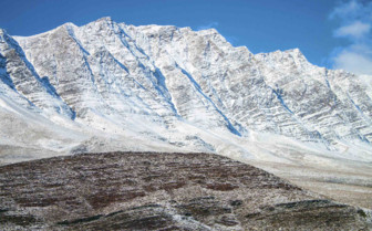 The Snow-Covered Zagros Mountains