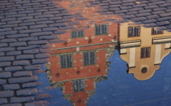 Reflections of Stockholm Townhouses