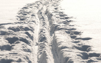 Vehicle Tracks in the Snow
