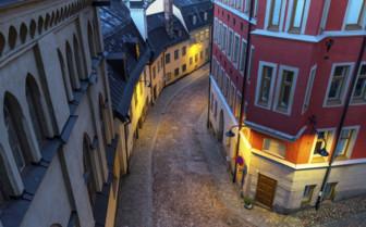 A Winding Street in Sweden